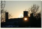 Czersk - zachód słońca