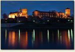 Kraków - zamek nocą
