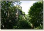 Łupki (Wleński Gródek) - wejście do zamku