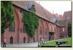 Malbork - dziedziniec zamku średniego
