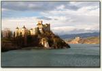Niedzica - Zamek Dunajec, w tle zamek w Czorsztynie