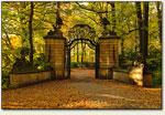 Wałbrzych - brama w parku